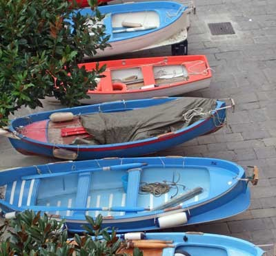 Colorfull Rowboats in a Row